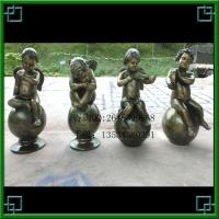 砂岩雕塑 小天使雕塑像 人物雕塑  小孩雕塑