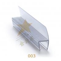 浴室玻璃淋浴房防水密封180度h条PVC塑料挡水条