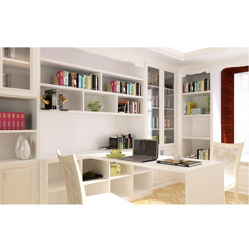 亿尚家居全屋定制爱家白色浪漫 个性化定制 定制书房