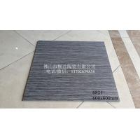 60*60深色全瓷条纹地砖 酒店餐厅连锁防滑瓷砖