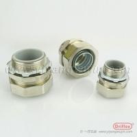 机加工铜镀镍接头 防水包塑软管接头 牙圈锁母零部件齐全