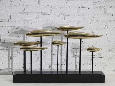 抽象金属工艺品_供应现代城市雕塑艺术品抽象铁艺金属工艺品