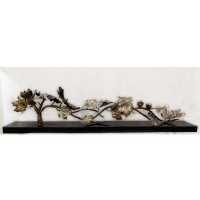 枫叶情 现代抽象雕塑艺术金属工艺品 台式摆件饰品