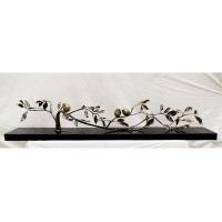 树与鸟 黄铜抽象树、鸟雕塑艺术装饰品 台式摆件工艺品礼品