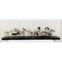 小小荷 金属雕塑摆件工艺品 荷花荷叶莲蓬现代艺术雕塑