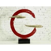 红与黑之红 抽象铁艺饰品金属雕塑艺术品桌面摆件金属工艺品