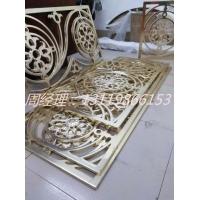 精品青古铜铝板雕刻护栏 中式镂空雕花护栏厂