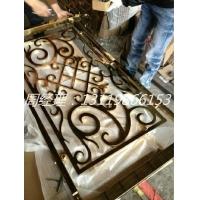 哈尔滨优质铝雕花护栏 土豪仿金护栏订做批发