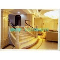 中央大堂弧形楼梯铝板雕花镂空护栏订做