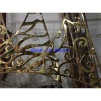 首创镜面K金铝板镂空雕刻屏风 加工订制