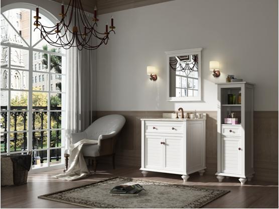 欧式橡木浴室柜-橡木浴室柜-白色橡木浴室柜