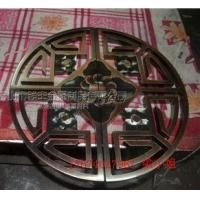 中国风仿古雕刻半圆团圆古铜大拉手