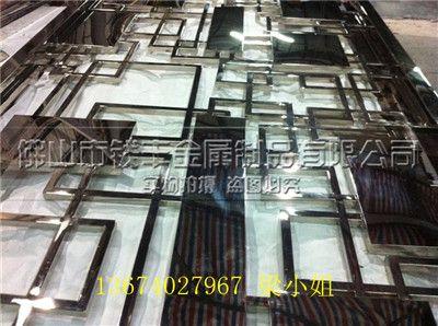 中西技术结合新型不锈钢仿古屏风