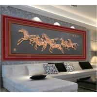 现代与古典家复古式金属工艺品特色墙面壁画