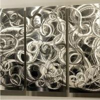 绝正艺术品,香港高级餐厅墙壁装饰品铝板金属壁画