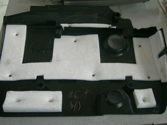 汽车行李箱门护板吸音棉焊接机,汽车叶子板内衬隔音棉热合机
