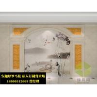 彩绘壁画背景墙