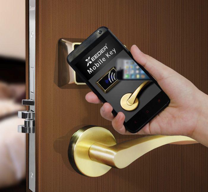 山东酒店门锁,微信开门锁,蓝牙门锁