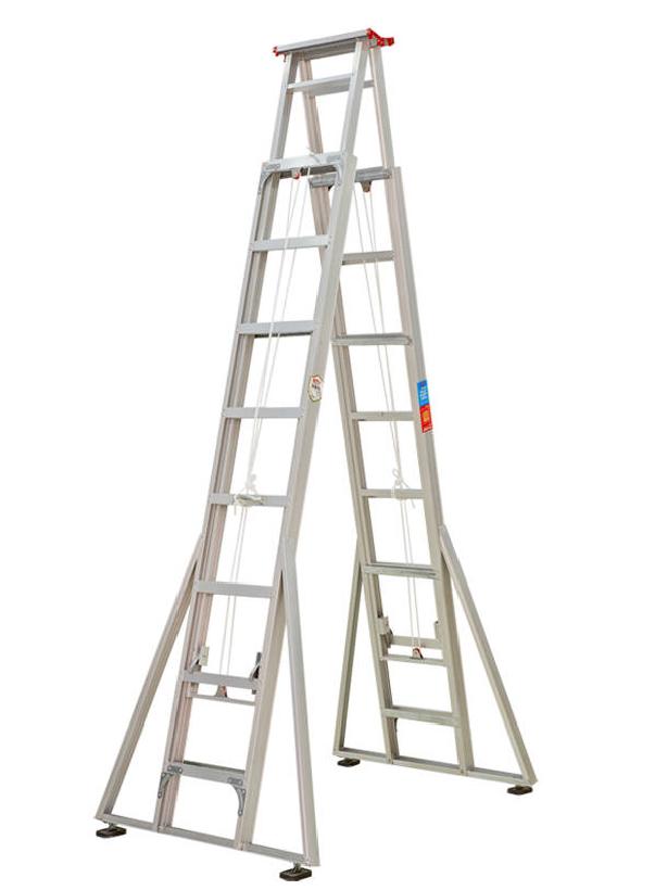 步步稳双升降梯多功能折叠梯子人字梯家用梯升降梯厂家工程梯