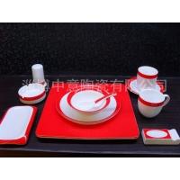 中意红摆台餐具