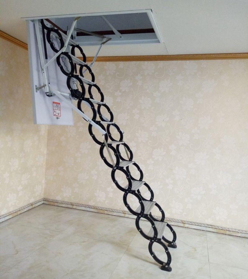 伸缩楼梯 阁楼伸缩楼梯图片