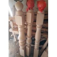 实木楼梯  榉木大立柱