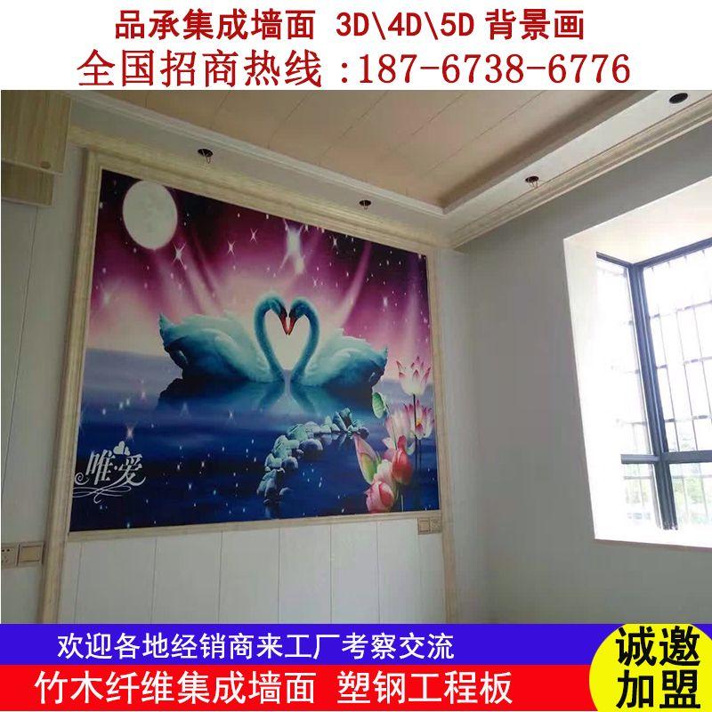 品承集成墙面 3D/4D/5D背景定制画 走廊玄关背景画 电