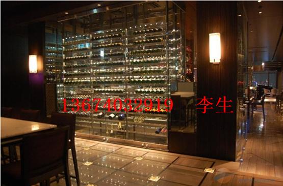 上海地区英伦风红酒柜架,不锈钢红酒架厂生产