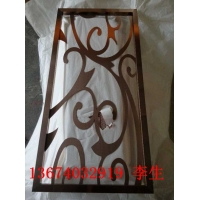玫瑰金不锈钢中式花格屏风厂家大量优惠,玫瑰金花格