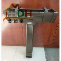 济南金属方形波纹落水管 铝合金彩色矩形雨水管价格厂家