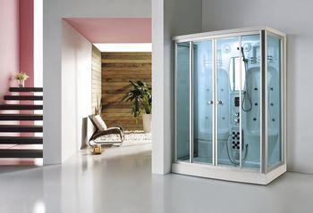 格雷仕整体淋浴房长方形电脑蒸汽房桑拿房玻璃封闭整体卫浴房