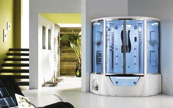 格雷仕带浴缸蒸汽房钢化玻璃多功能3C认证