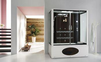 1.7M整体淋浴房带浴缸浴室沐浴洗澡蒸汽房钢化玻璃沐浴房