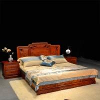 杜邦红木家具国色天香床W511