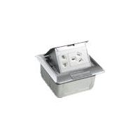 10A 250V二/三极电源地插(铝质光面)