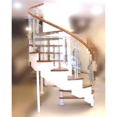 现代大力楼梯-钢木楼梯