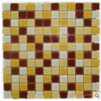 2.3咖啡黄色水晶玻璃马赛克 卧室厨房卫浴瓷砖装修