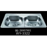 广东|供应一体拉伸厨房不锈钢水槽|WY-3322