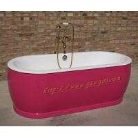 简派卫浴独立式铸铁浴缸,酒店工程首选浴缸