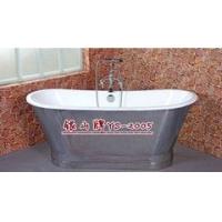 带不锈钢套子的铸铁搪瓷浴缸 独立贵妃浴缸 裙边浴缸