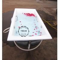 铸铁搪瓷按摩浴缸1.5米1.7米1.8米白色嵌入式带扶手