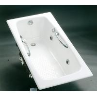 简派卫浴铸铁按摩浴缸1.5米-1.8米白色嵌入式