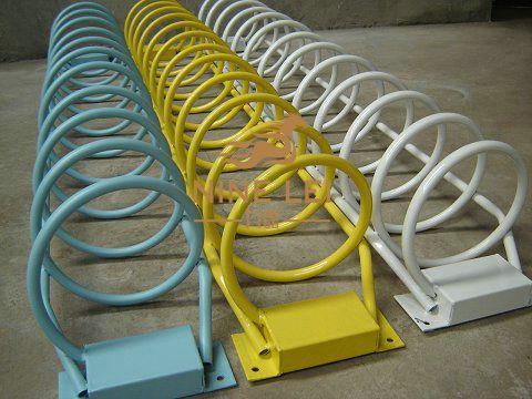 碳素钢螺旋式自行车停车位