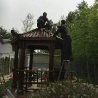 济南碳化木凉亭,济南碳化木古典凉亭,济南碳化木凉亭安装