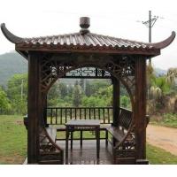 济南碳化木,济南碳化木批发,济南碳化木凉亭