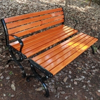 户外公园休闲椅,防腐木坐凳