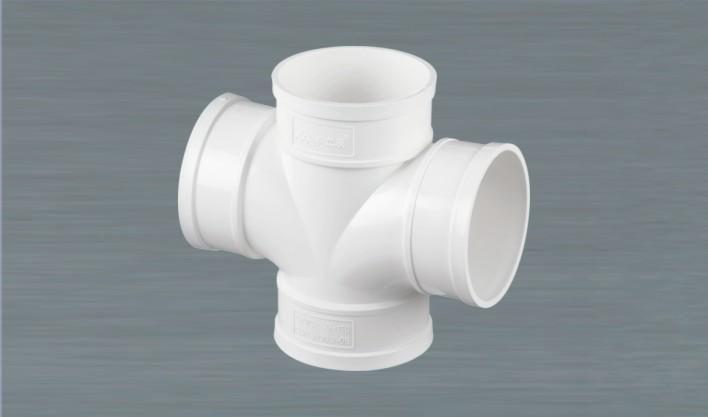 PVC平四通 PCV排水管件