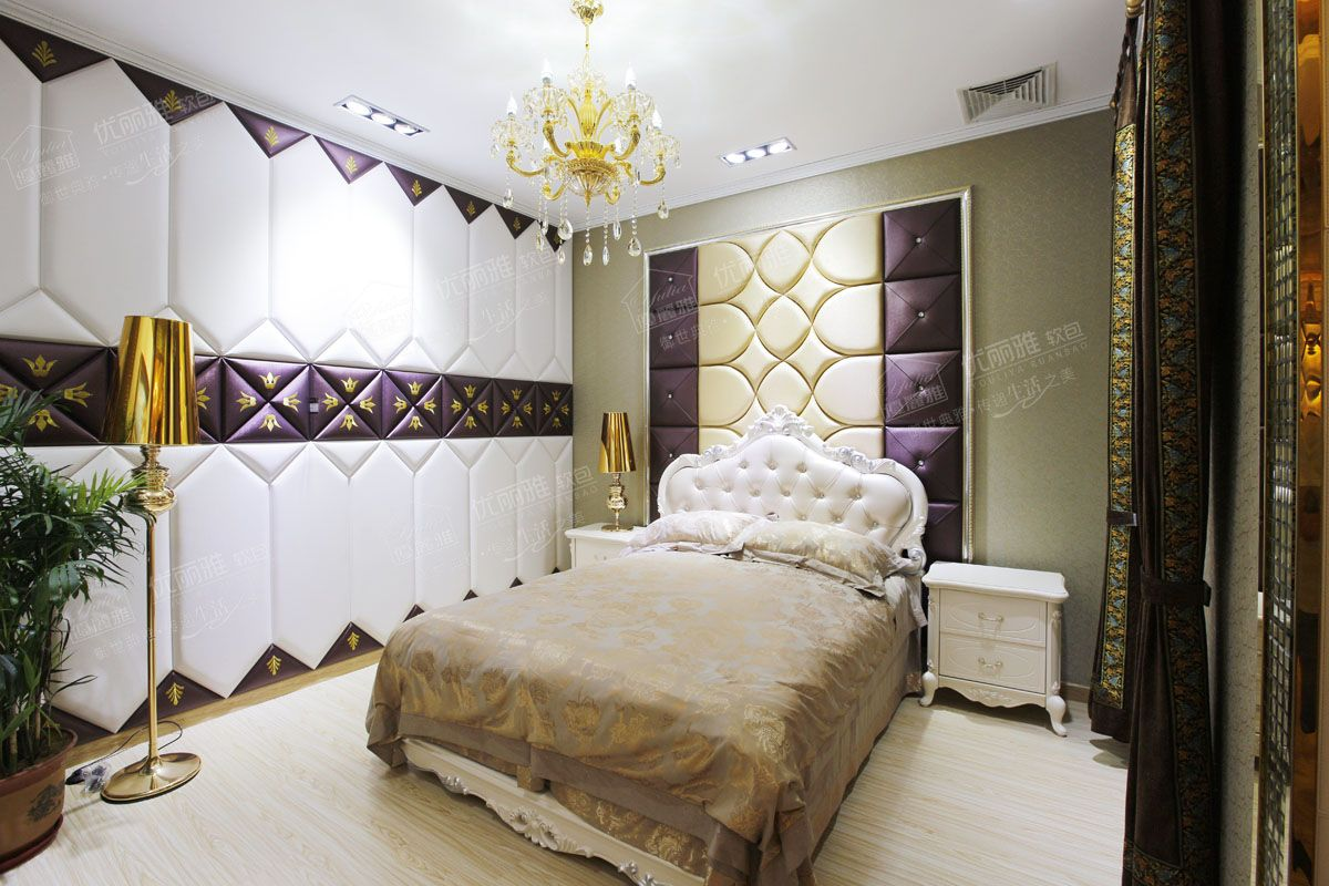 优丽雅软包全国招商 软包背景墙 床头 CX 37图片