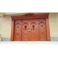 别墅大门,别墅欧式四开门,美国红橡原木大门