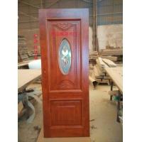 别墅实木玻璃门,原木欧式镶嵌玻璃门,橡木玻璃门